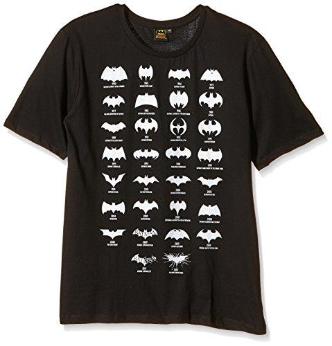 Batman - Batman All Logo, T-shirt da uomo, nero (noir), Large (Taglia Produttore: L)
