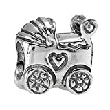 Pandora Genuine Sterling Silver Baby Carriage Charm, 790346