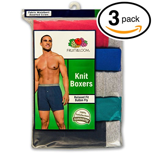 Fruit of the Loom Mens 3Pack Comfortsoft Knit Boxer Shorts Boxers Underwear 3XL (Fruit Of The Loom Boxers 3xl compare prices)