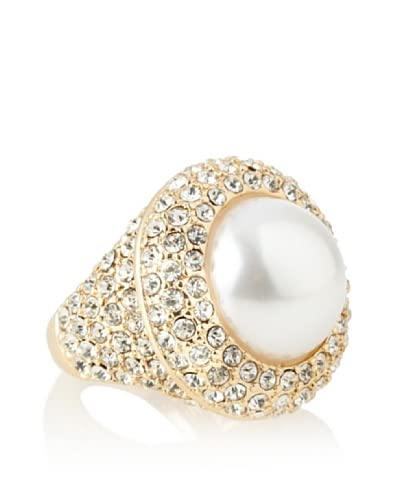 Kenneth Jay Lane Faux Pearl Center Ring As You See