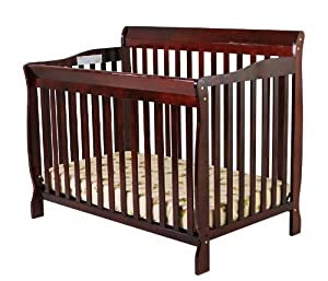 Dream On Me Ashton 4 in 1 Convertible Crib, Cherry