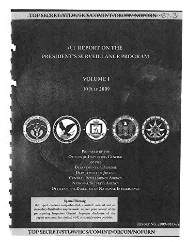 DoD-DoJ-CIA-NSA-ODNI Inspectors General Report on the President's Surveillance Program PDF