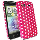 Polka Dots - Hard Shell Mobile Phone Case Cover Cover For HTC Sensation G14 / Hot Pink