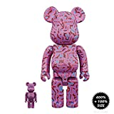 Bearbrick Medicom Toy Keith Haring ver. 2 - Set of 2  400% and 100%