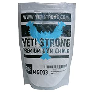 Yeti Strong Ultra-Premium Gym Chalk 200g - Best Climbing Chalk for Climbing, Weightlifting, and Gymnastics - 100% Money Back Guarantee