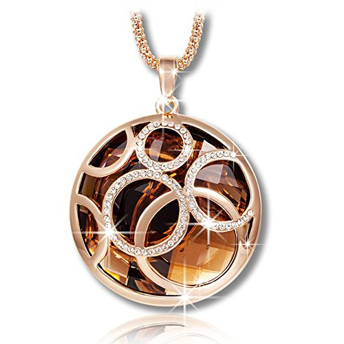 shankming-golden-life-rolling-ball-brown-austrian-crystal-pendant-necklace-with-rose-gold-long-chain