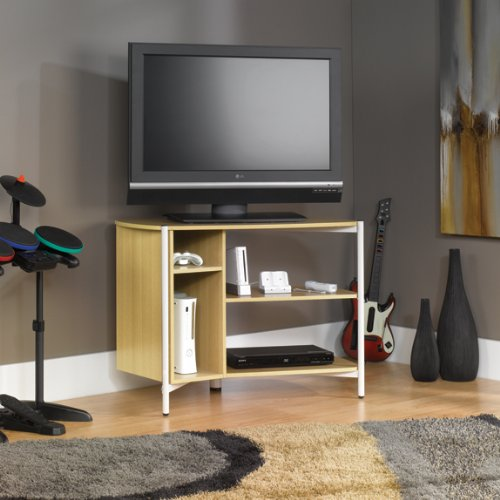 Sauder Chatter Panel Tv Stand - Rice / White Oak