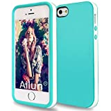 iPhone 5s Case,iPhone 5 Case,by Ailun,Shock-Absorption Bumper,Anti-Scratch,Fingerprint&Oil Stain Shell Soft Dual Color TPU Back Cover,Siania Retail Package[WhiteGreen]