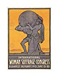POLITICAL SUFFRAGE WOMEN SUFFRAGETTE BUDAPEST HUNGARY FRAMED ART PRINT B12X1094