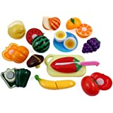 Kitchen Fun Cutting Fruits & Vegetables Food Playset for Kids
