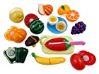 Happy Cooking Kitchen Fun Cutting Fruits & Vegetables Food Playset for Kids