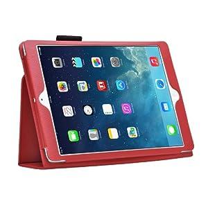 Bestwe Black Ultra Slim Pu Leather Stand Cover Case For Apple Ipad Air / Ipad mini 2 / Ipad mini with Magnetic Auto Wake & Sleep Function (Ipad Air, Red)