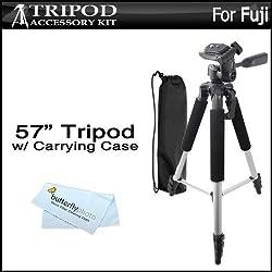 57 Camera Tripod w/ Case For Fuji Fujifilm Finepix S8200 S8300 S8400 S8500 S8600 SL1000 HS50EXR X100S X-M1 XP60 XP70 XP80 S6800 S6900 S9200 S9400W S9800 S9900W X-A2 QX2 X-T1 X30 Digital Camera