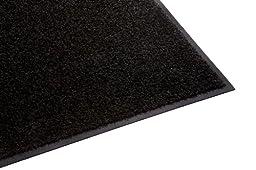 Guardian Platinum Series Indoor Wiper Floor Mat, Rubber with Nylon Carpet, 5\'x9\', Black