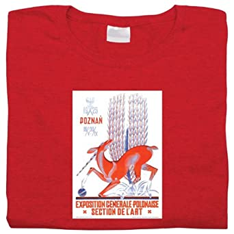 Polish Apparel Vintage Poster: Poznan Art Expo - Ash Long Sleeve Tee SMALL