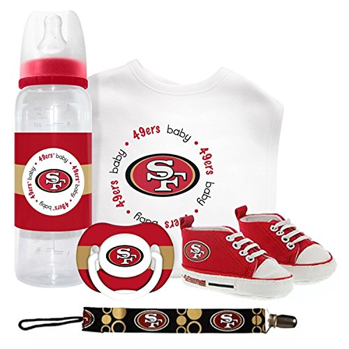 NFL San Francisco 49ers Baby Gift Set (Newborn, 5 Piece Baby Gift Set)