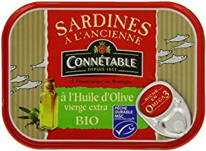 Connetable Organic Sardines In Extra Virgin Olive Oil 135 g by Connetable