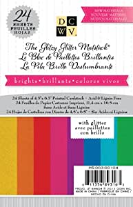 Die Cuts With A View Cardstock Mat Stack, 4-1/2 by 6-1/2-inches, Glitter Brights