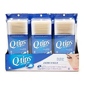 Q-tips Cotton Swabs, Triple Pack, 1875 Count
