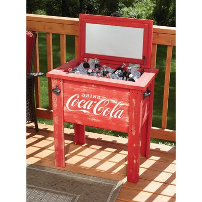 Leigh Country CP 98100 Coca Cola Vintage Cooler, 54-Quart, Red (Vintage Coke Cooler compare prices)