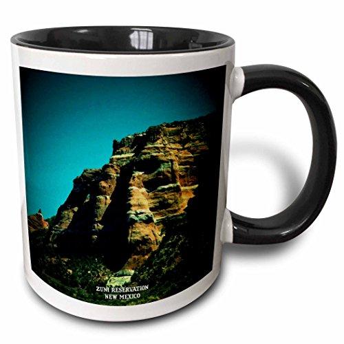 Sandy Mertens New Mexico - Zuni Reservation - 11oz Two-Tone Black Mug (mug_48724_4)