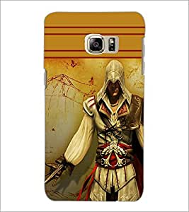 PrintDhaba Warrior D-1891 Back Case Cover for SAMSUNG GALAXY NOTE 5 (Multi-Coloured)
