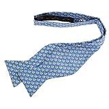 Mens 100% Silk Nautical Sailboat Sailing Freestyle Self Tie Bow Tie Bowtie Neckwear