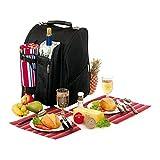 Picknickrucksack für 2 Personen mit Fleece-Decke und Kühlfach