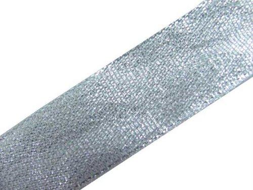 New 4.5 Yd Silver Border Ribbon Trim Sewing Lace Craft Dress Embellishment
