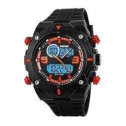 Skmei Sports Double movement chronograph multifunction Analogue Digital Mens watch-1156