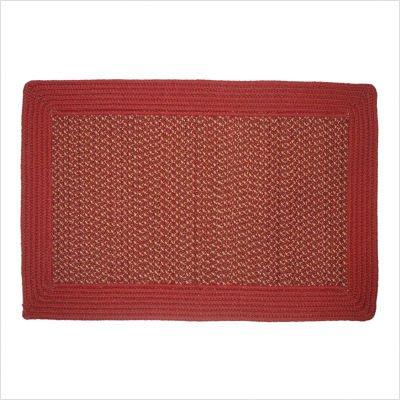 "Border Tweed Barn Red Braided Rug Size: 2'6"" x 4'2"""