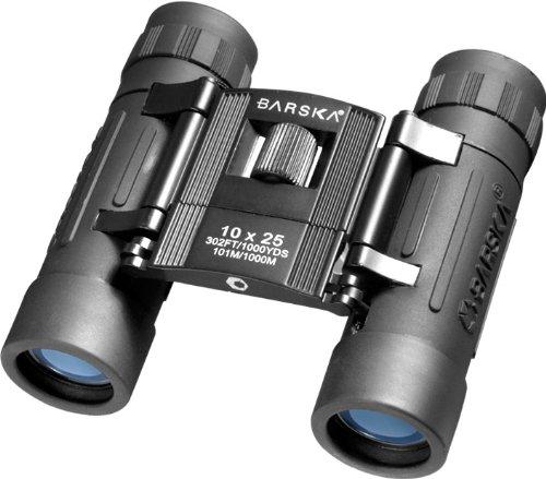 Barska Lucid View 10X25 Compact Folding Roof Bk-7 Prism Binoculars, Black - Clam Ab10111