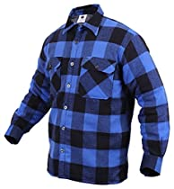 Buffalo Plaid Sherpa Lined Jacket Blue Size Large