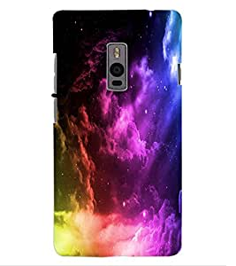 ColourCraft Beautiful Sky Look Design Back Case Cover for OnePlus Two