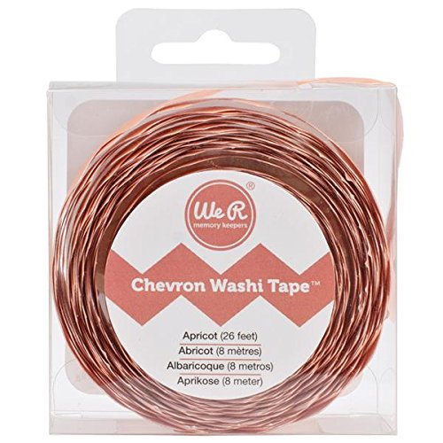 Apricot Chevron Washi Tape