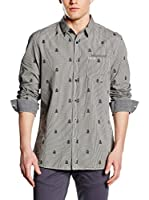 Guess Camisa Hombre (Gris / Blanco)