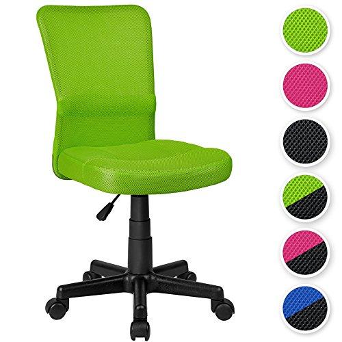 TecTake SEDIA UFFICIO SEDIA GIREVOLE STOFFA RETE - disponibile in diversi colori - (Verde | no. 401795)