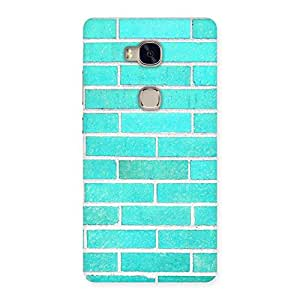 Ajay Enterprises Brick Cyan Back Case Cover for Huawei Honor 5X