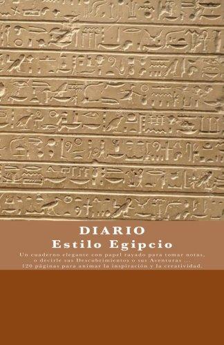 DIARIO Estilo Egipcio: Diario / Cuaderno de viaje / Diario de a bordo - Diseno unico