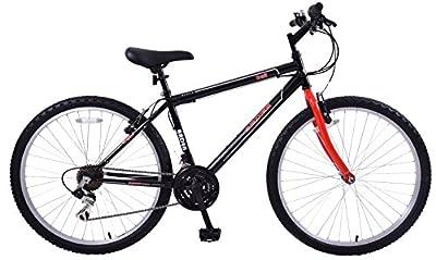 "Boys Arden Trail 24"" Wheel Mountain Bike 13"" Frame 21 Speed Red & Black"