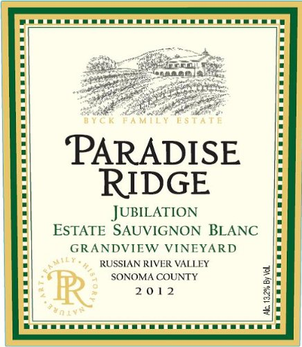 2012 Paradise Ridge Jubilation, Estate Sauvignon Blanc, Russian River Valley 750 Ml
