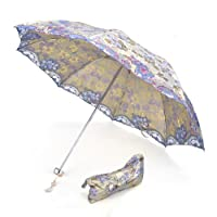 TOPTIE Anti-UV Sun Umbrella W/ Elegant Bag, Folding Parasol