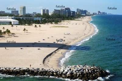 "Wallmonkeys Peel and Stick Wall Graphic - Fort Lauderdale City Beach (florida). - 24""W x 16""H"