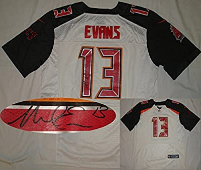 Mike Evans Autographed Tampa Bay Buccaneers Authentic White Jersey