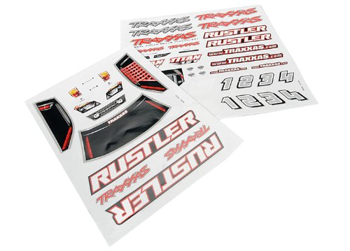 Traxxas Rustler Decal Sheet
