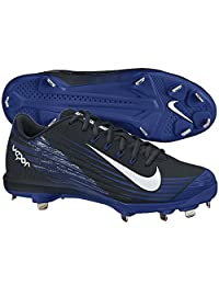 Nike Mens Lunar Vapor Pro Metal Cleats 8.5 Black/Rush Blue/ White