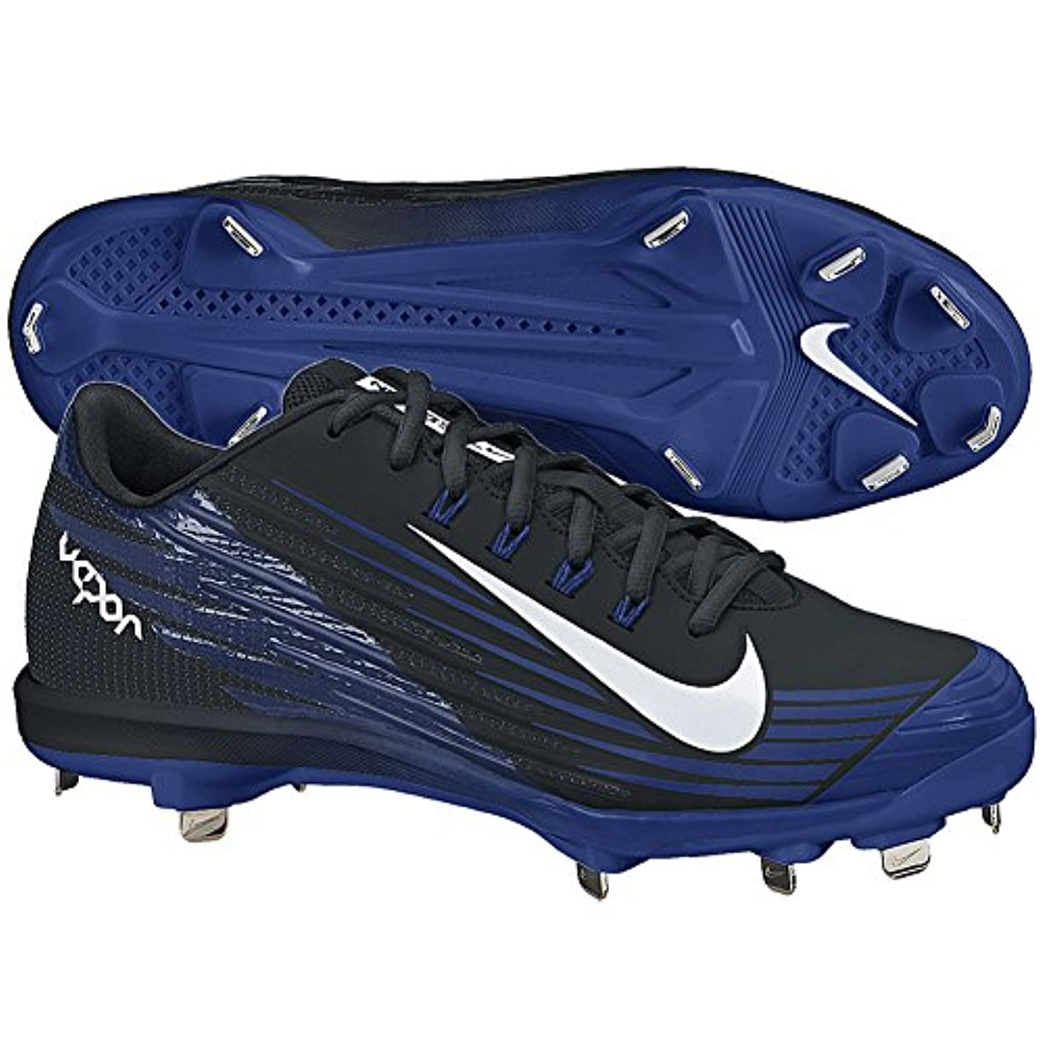Nike Lunar Vapor Pro Metal Cleats Sz 11 BLACK/RUSH BLUE//WHITE