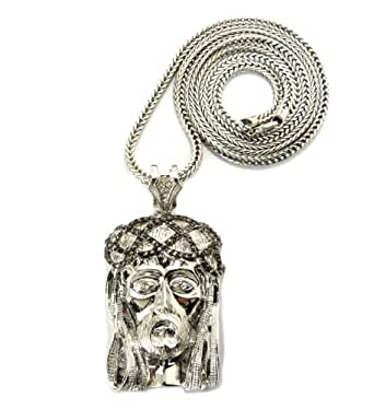 Amazon.com: Silver/Hematite Tone Crown of Thorns Jesus Pendant 36