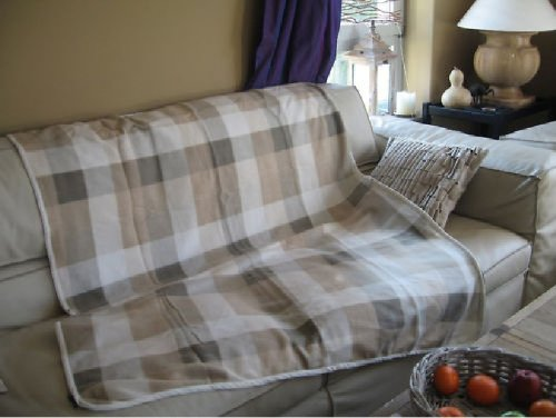scessetsu lot x 2 plaid ou poncho dessus de lit. Black Bedroom Furniture Sets. Home Design Ideas
