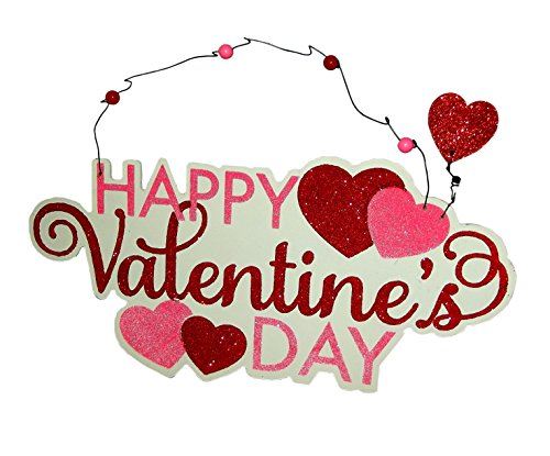 Amscan Happy Valentine's Day Wire Glitter Sign